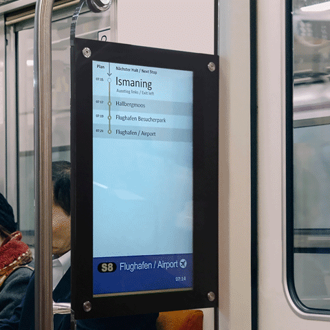 Wabtec Transit Rail Passenger Information and Video Security iSmart Display
