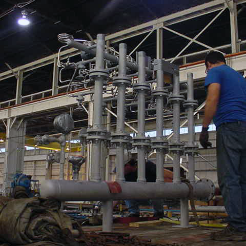 Custom Large Scale Fabrications - Complex Piping & Skid Fabrications